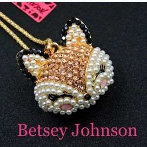 Betsey Johnson Fox Necklace New